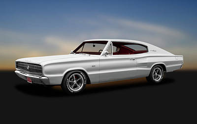 Photograph - 1966 Dodge Charger  -  1966dodgechargerfastbackhdtp184454 by Frank J Benz