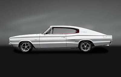 Photograph - 1966 Dodge Charger  -  1966dodgechargerfastbackhdtpgray184463 by Frank J Benz