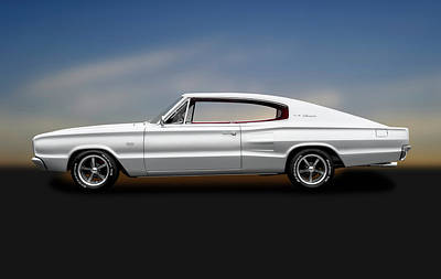 Photograph - 1966 Dodge Charger  -  1966dodgechargerfstbkharddtop184463 by Frank J Benz
