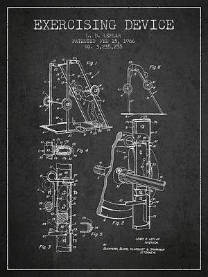 Weightlifting Wall Art - Digital Art - 1966 Exercising Device Patent Spbb05_cg by Aged Pixel