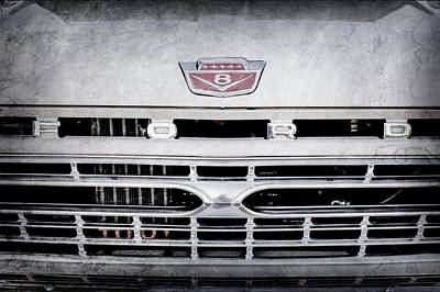 Antique Ford Truck Grill Photograph - 1966 Ford F100 Grille Emblem -113ac by Jill Reger
