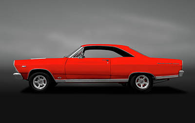 Photograph - 1966 Ford Fairlane 500 Gta  -  1966fordfairlane390gtagry141080 by Frank J Benz