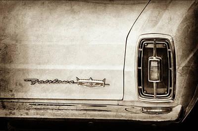 Xl Photograph - 1966 Ford Fairlane Xl Taillight Emblem -0425s by Jill Reger