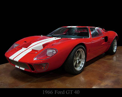 Photograph - 1966 Ford Gt 40 by Chris Flees