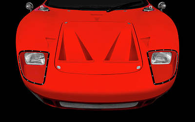 Photograph - 1966 Ford Gt40 Front End Detail   -  1966gt40frtdetail170443 by Frank J Benz