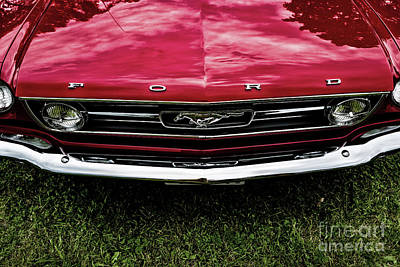 Photograph - 1966 Ford Mustang Convertible Gt by M G Whittingham