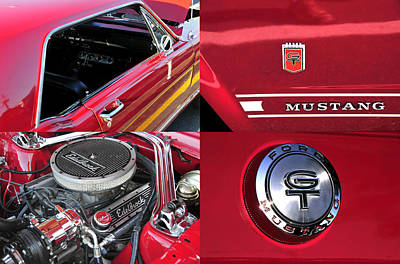 Photograph - 1966 Ford Mustang Gt by David Lee Thompson