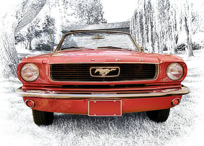Photograph - 1966 Ford Mustang by Susan Rissi Tregoning