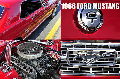 Photograph - 1966 Ford Mustng B by David Lee Thompson