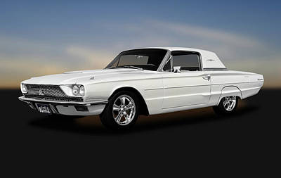 Photograph - 1966 Ford Thunderbird Two Door Coupe  -  1966fordtbirdhardtop170896 by Frank J Benz