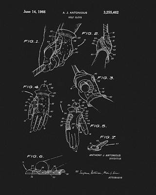 Glass Art - 1966 Golf Glove Patent by Dan Sproul
