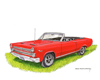 Painting - 1966 Mercury Cyclone Convertible G T by Jack Pumphrey