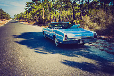 1966 Oldsmobile F-85 Convertible On A Surf Trip Art Print by Marco Oliveira