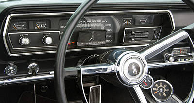 Photograph - 1966 Plymouth Satellite Dash by Glenn Gordon