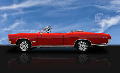 Photograph - 1966 Pontiac Gto 389 Tri-power Convertible by Frank J Benz