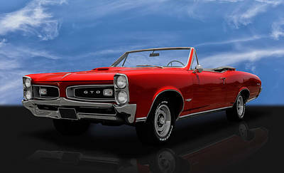 Photograph - 1966 Pontiac Gto 389 Tri-power by Frank J Benz