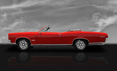 Photograph - 1966 Pontiac Gto 389 Tri-power - V3 by Frank J Benz