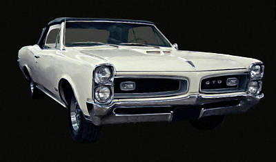 Painting - 1966 Pontiac Gto Convertible Digital Oil by Chris Flees