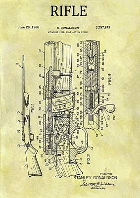 Drawing - 1966 Rifle Patent by Dan Sproul