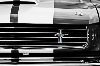 Photograph - 1966 Shelby Gt350 Grille Emblem by Jill Reger