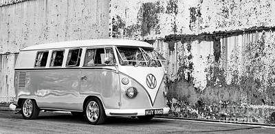 Photograph - 1966 Split Screen Vw Campervan Monochrome by Tim Gainey