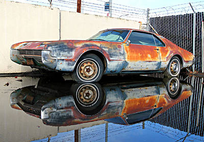 Wrecking Yard Photograph - 1966 Toronado In Decay  by Steve Natale