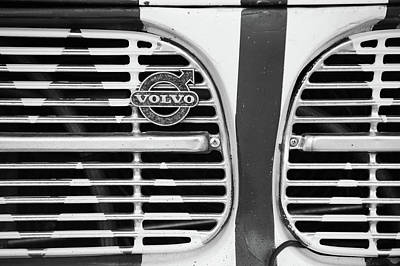 Photograph - 1966 Volvo Amazon 122s Grille Emblem -1505bw by Jill Reger
