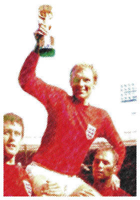 Jules Mixed Media - 1966 World Cup Aloft by Charlie Ross