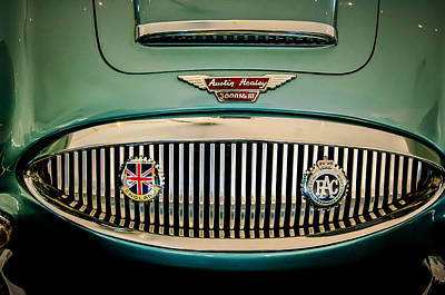 Photograph - 1967 Austin-healey Bj8 Convertible Grille -0069c by Jill Reger