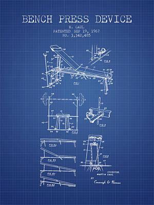1967 Bench Press Device Patent Spbb06_bp Art Print