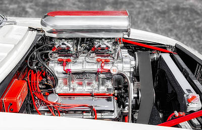 Photograph - 1967 Chevrolet Camaro Rs Supercharged Engine by Frank J Benz
