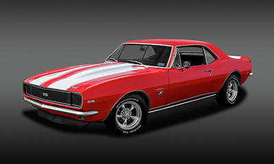 Photograph - 1967 Chevrolet Camaro Ss/rs 396   -   1967chevcamaro396ssfa2483 by Frank J Benz