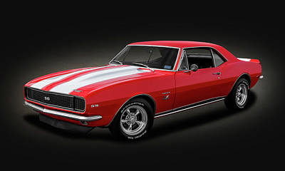 Photograph - 1967 Chevrolet Camaro Ss/rs 396  -  1967chevycamarospottext142483 by Frank J Benz
