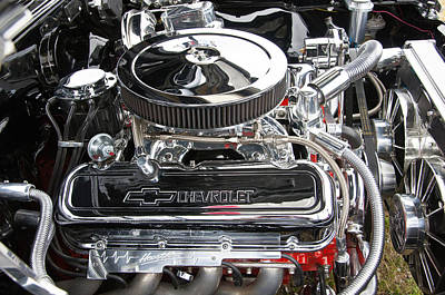 Photograph - 1967 Chevrolet Chevelle Ss Engine by Glenn Gordon
