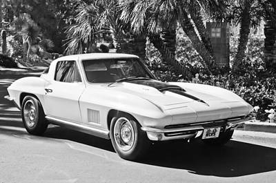 Photograph - 1967 Chevrolet Corvette -013bw by Jill Reger