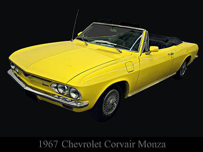Digital Art - 1967 Chevy Corvair Monza by Chris Flees