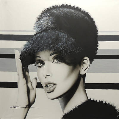 Sixties Painting - Portrait - ' 1967 ' by Christian Chapman Art