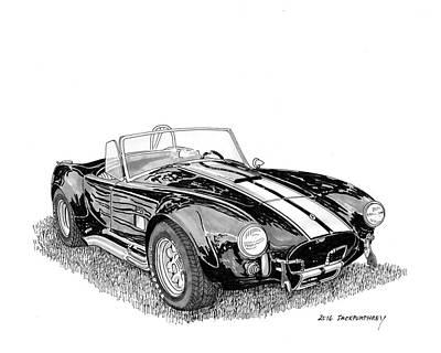 Cobra Drawing - 1967 Cobra Sc by Jack Pumphrey