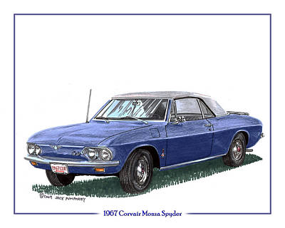 Traffic Control Painting - 1967 Corvair Monza Spyder by Jack Pumphrey
