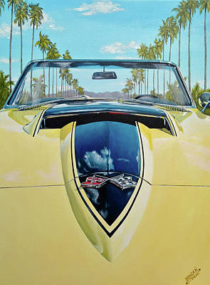 Painting - 1967 Corvette 427 Convertible by Branden Hochstetler