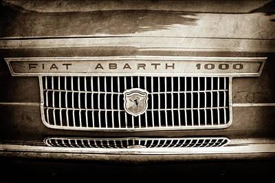 Photograph - 1967 Fiat Abarth 1000 Otr Grille Emblem -0588s by Jill Reger