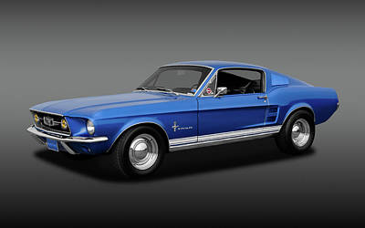 Photograph - 1967 Ford Mustang Fastback 390 Cubic Inch  -  1967fdmustfastfa170253 by Frank J Benz