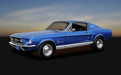 Photograph - 1967 Ford Mustang Fastback 390 Cubic Inch  -  1967fordmustang170253 by Frank J Benz