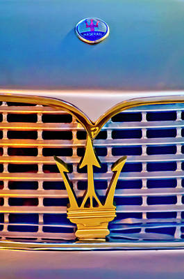 Hoodies Photograph - 1967 Maserati Sebring Coupe Emblem by Jill Reger