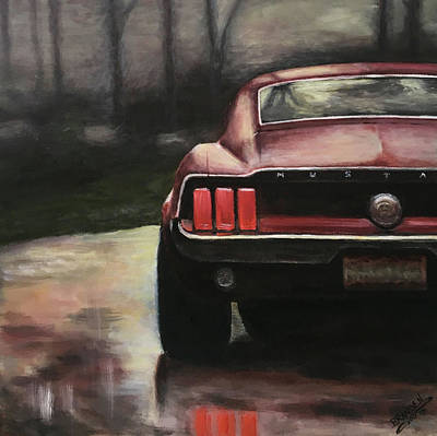 Painting - 1967 Mustang by Branden Hochstetler