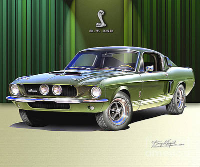 Mustang Photograph - 1967 Mustang Shelby Gt-350  by Danny Whitfield