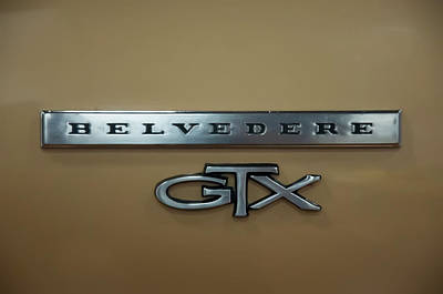 Photograph - 1967 Plymouth Belvedere Gtx Front Quarter Pannel by Chris Flees