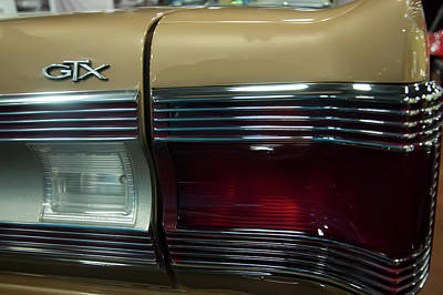 Photograph - 1967 Plymouth Belvedere Gtx Rear Tail Light by Chris Flees