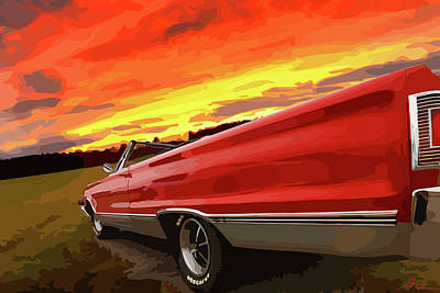 1967 Plymouth Satellite Convertible Art Print by Gordon Dean II