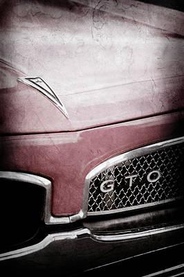 Classic Pontiac Photograph - 1967 Pontiac Gto Grille Emblem -0438ac by Jill Reger